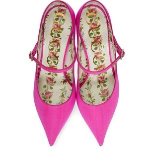 NWT Gucci Moiret Fabric Mary Jane Pumps